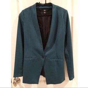 Mossimo Supply Co. Teal One-Button Blazer